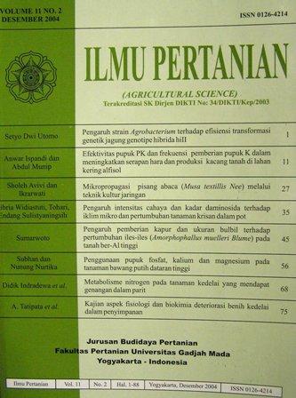 Jurnal Ilmu Pertanian